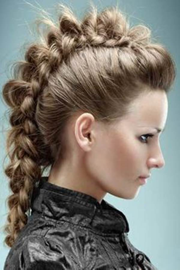 Magnificent 45 Fantastic Braided Mohawks To Turn Heads And Rock This Season Short Hairstyles Gunalazisus