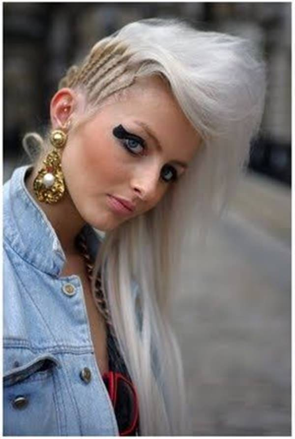 ... cool blonde color. The braids move vertically to create a unique look