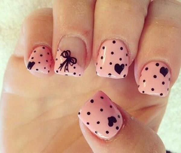 ... cute nail designs 2 - 32 Easy Designs For Short Nails That You Can Try At Home