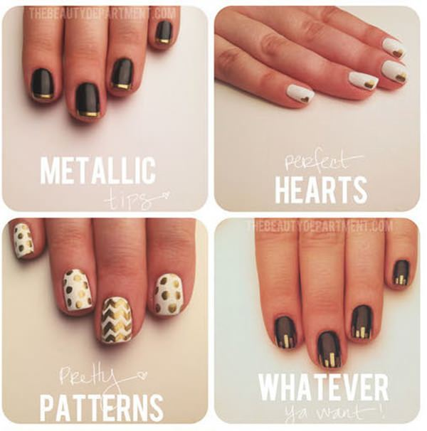 32 easy designs for short nails that you can try at home prinsesfo Choice Image