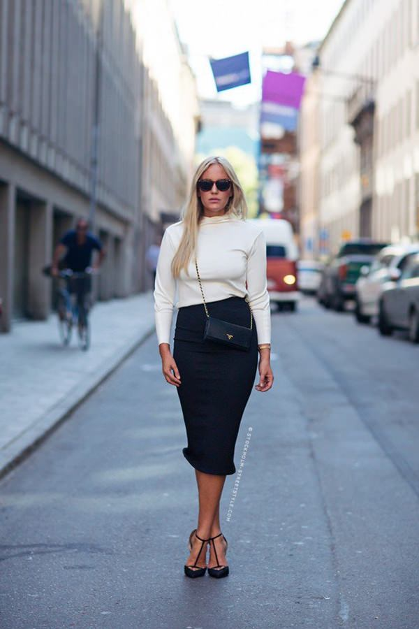 pencil skirt outfits 46