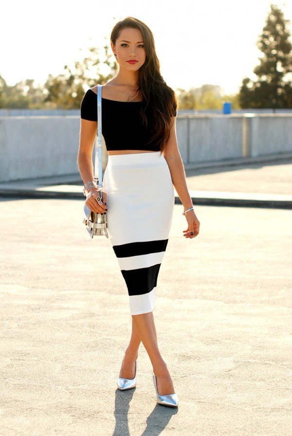 Beautiful Another Great Example Of A Patterned Pencil Skirt This Time Paired