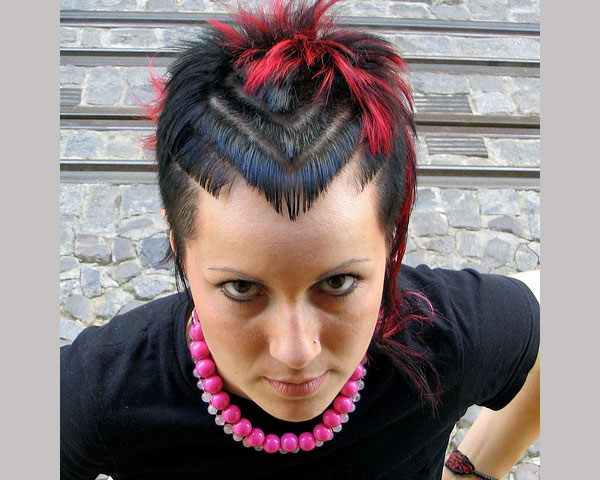 56 punk hairstyles to help you stand out from the crowd punk rock 18 short and punky this stylish chick surely knows how to spice things up her gorgeous dark hair cut must be one of the most unusual hairstyles urmus Image collections