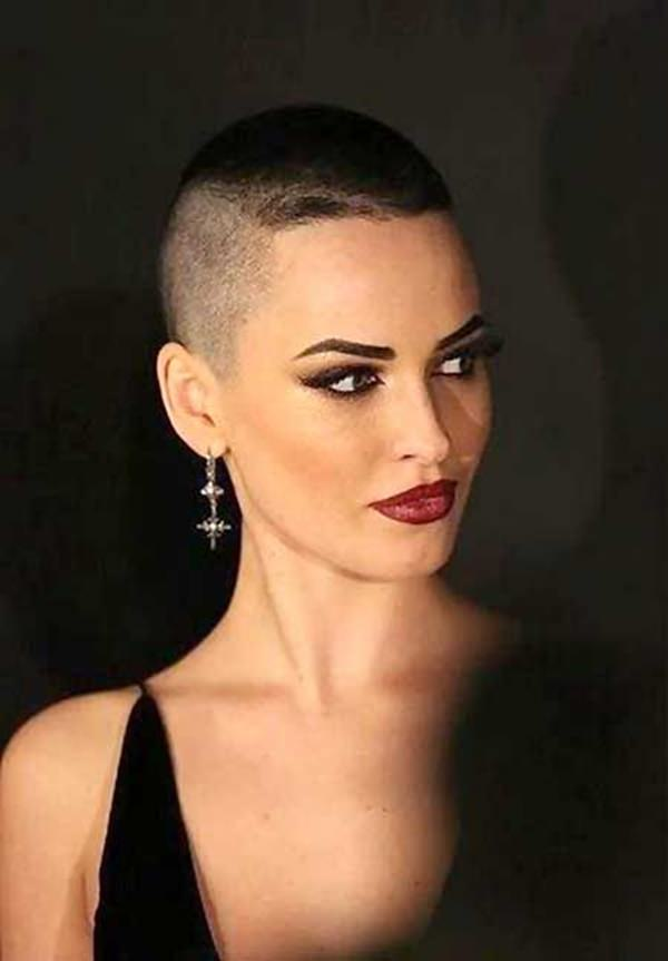 Peachy 50 Shaved Hairstyles That Will Make You Look Like A Badass Hairstyle Inspiration Daily Dogsangcom