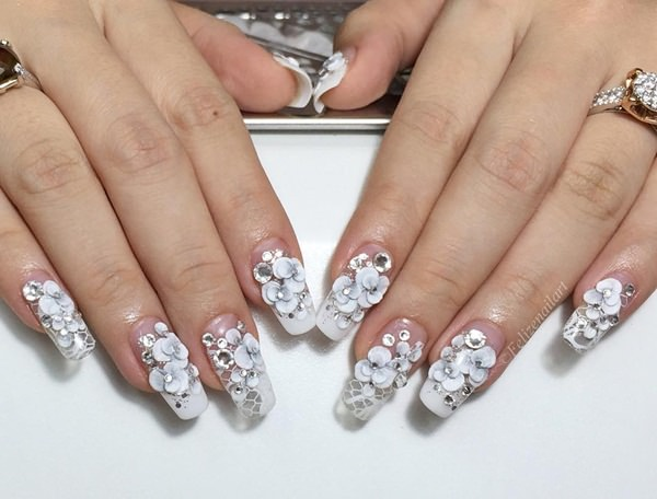52-Acrylic-Nails - 115 Acrylic Nail Designs To Fascinate Your Admirers