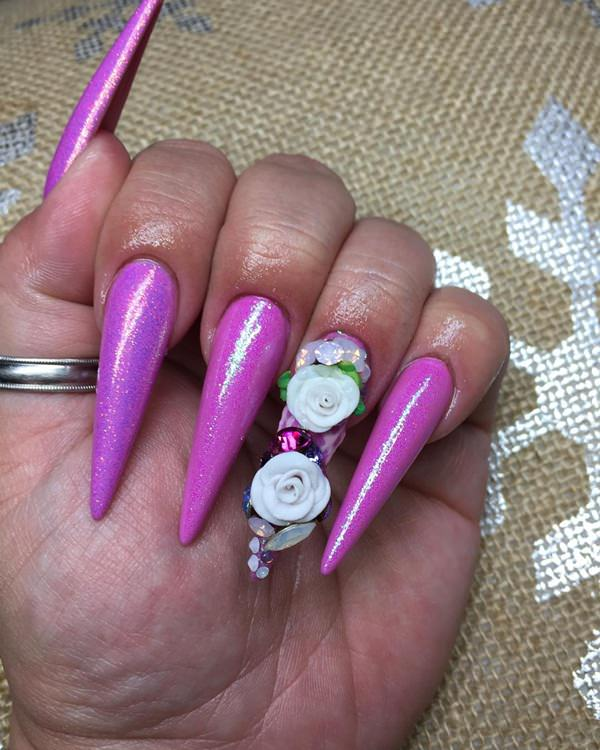 115 acrylic nail designs to fascinate your admirers 66 acrylic nails prinsesfo Choice Image