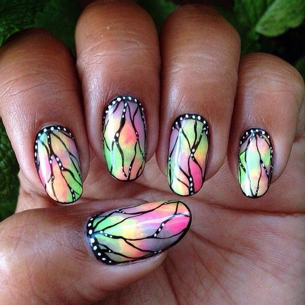 Stained Glass Nail Art: 30 Beautiful Butterfly Nail Art Designs That You Will Need