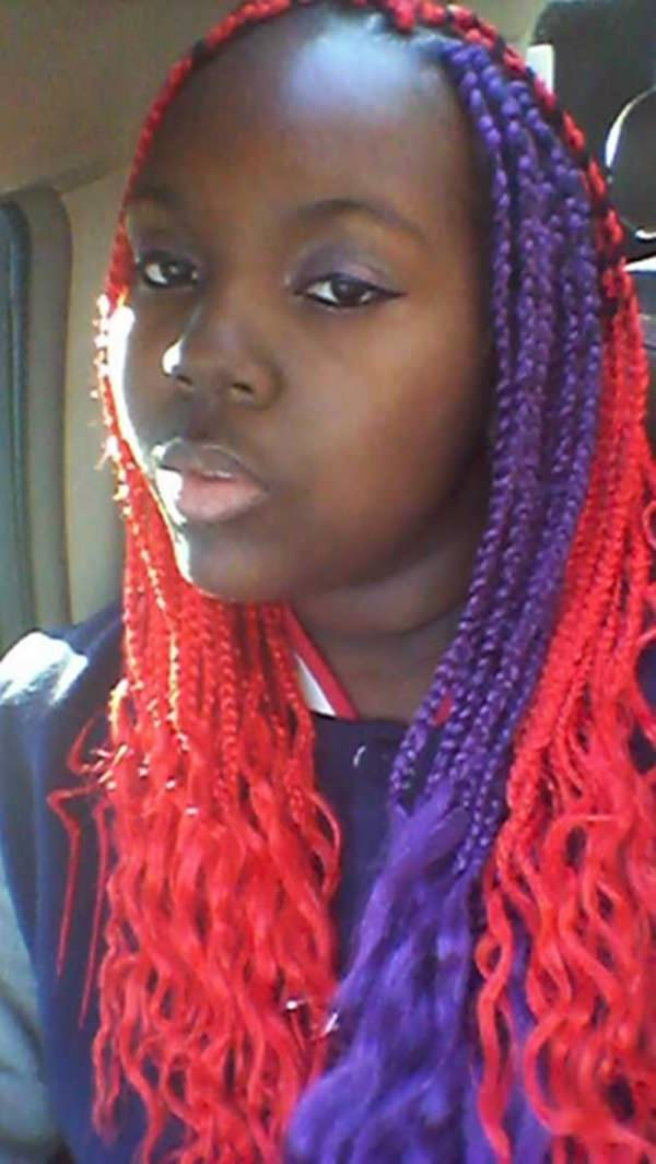 Red Colored Box Braids Www Imgkid Com The Image Kid