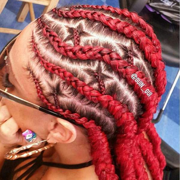 Again, these braids aren't divided into perfect boxes, but the ...