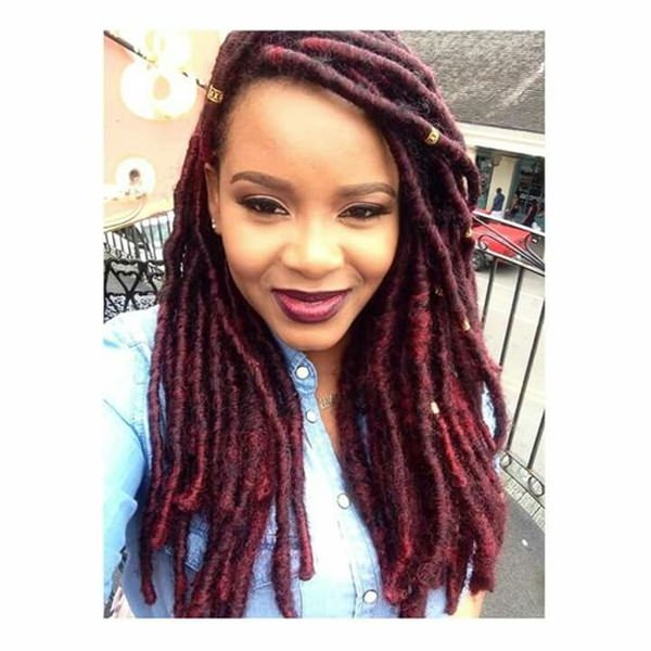Crochet Box Braids Red : Instead of red box braids, why not red box dreads?
