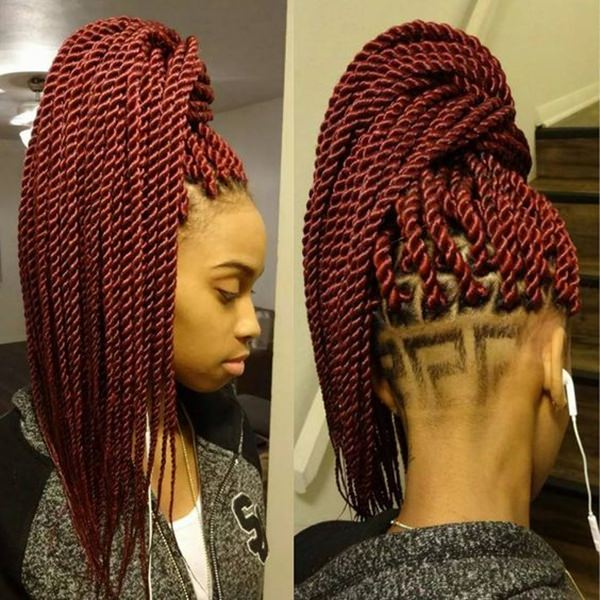 Crochet Box Braids Red : 45 Photos of Rockin? Red Box Braids