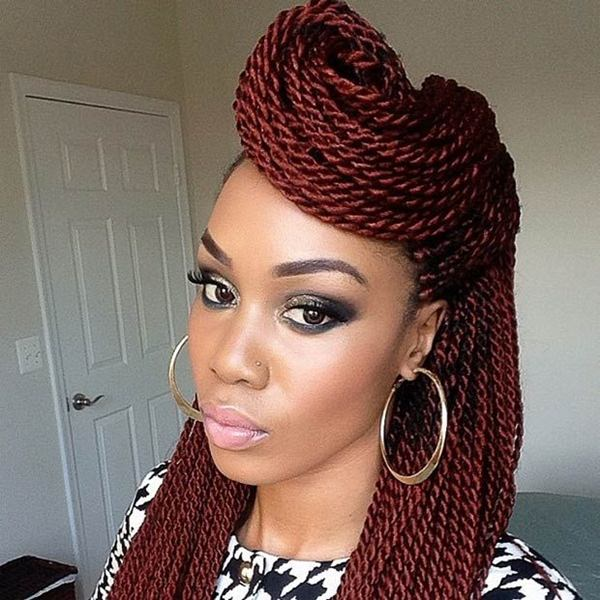 hairstyle shows us how creative we can get when having longer braids ...