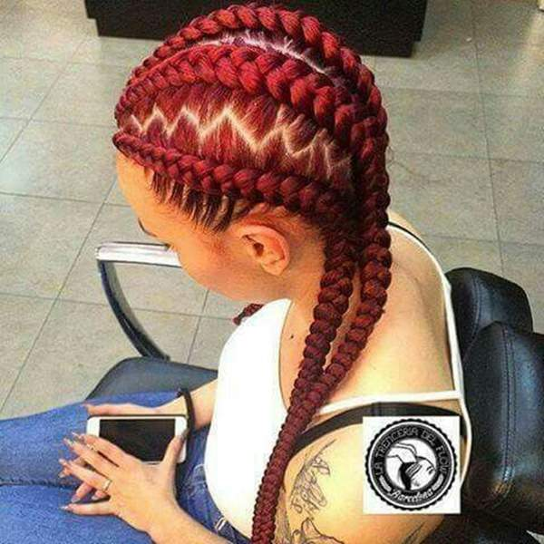 45 photos of rockin 39 red box braids. Black Bedroom Furniture Sets. Home Design Ideas