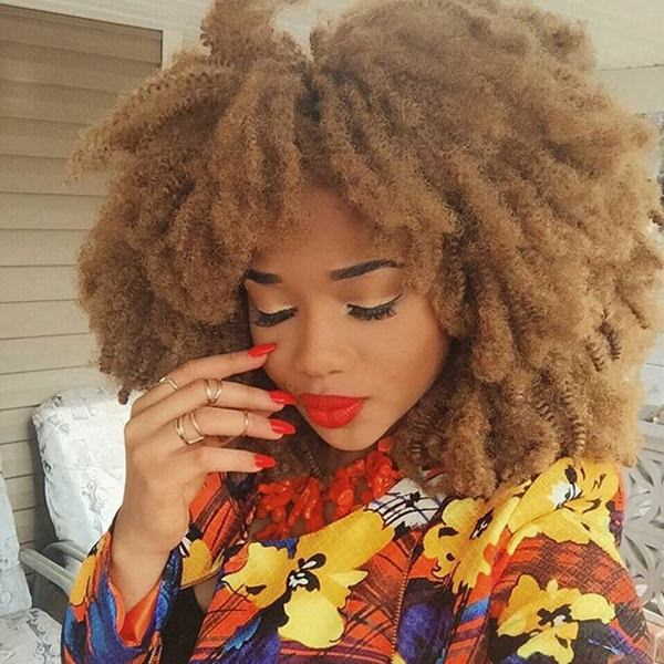 Afro Crochet Hair Styles : ... hair used with crochet braids. The kinky afro look is great for a low