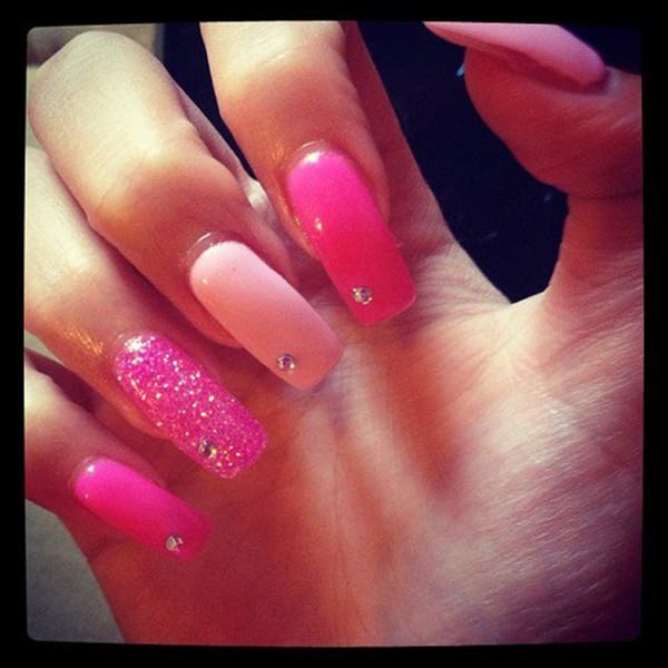 ... accents are well placed, being one of our platinum pink nail designs