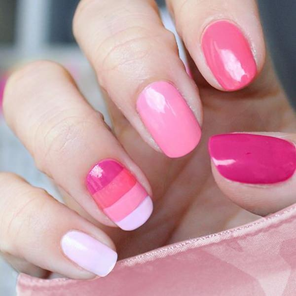 Simple Nail Designs Pink : Innocently sexy pink nail designs photos