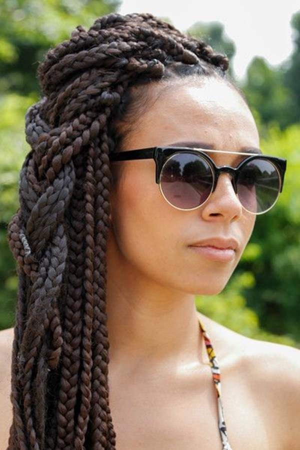 79 sophisticated box braid hairstyles with tutorial. Black Bedroom Furniture Sets. Home Design Ideas
