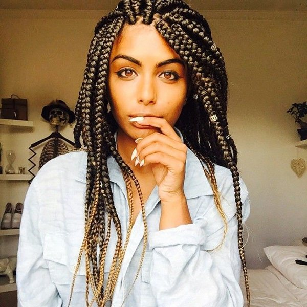 Outstanding Box Braid Color Ideas Braids Short Hairstyles For Black Women Fulllsitofus