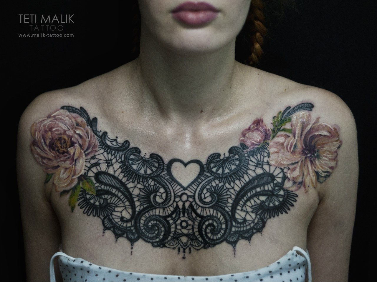 50 remarkable lace tattoo designs - Tattoo dekoltee ...
