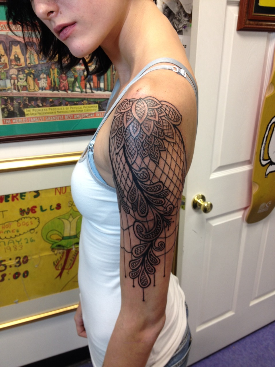50 remarkable lace tattoo designs for How to make a tattoo sleeve