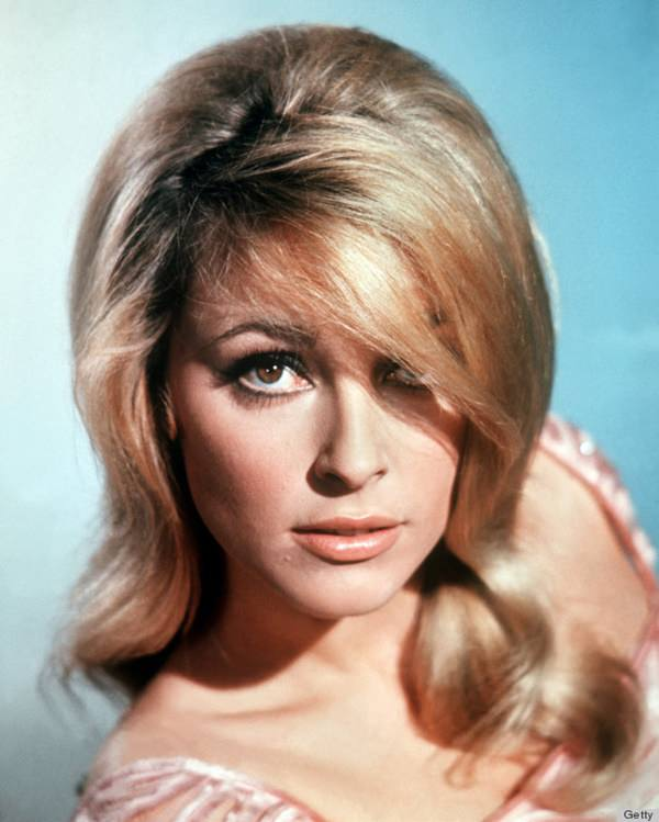 What Were Popular Hairstyles In The 1960s : Headshot of sharon tate  us actress in a studio portrait