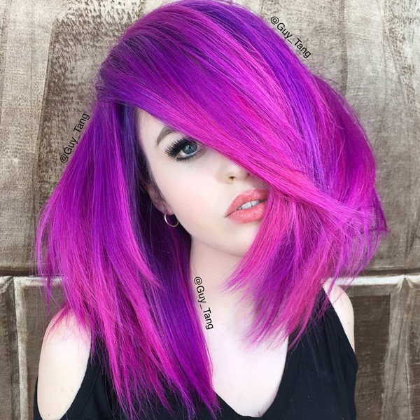 32 Best Compliments Of Purple Images On Pinterest: 45+ Best Hairstyles Using The Fashionable Shade Of Purple