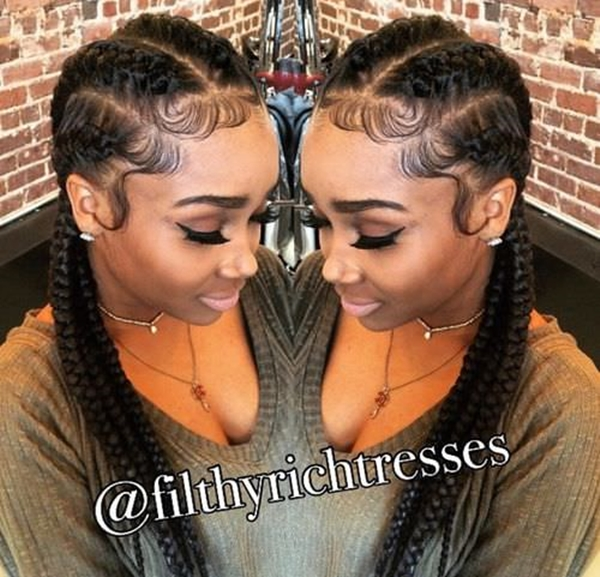 55 of The Most Stunning Styles of the Goddess Braid - Curly Weave Ponytail Hairstyles