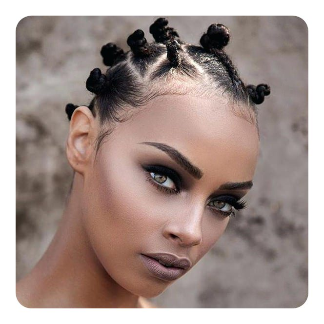 Bantu Knots On Natural Hair Short