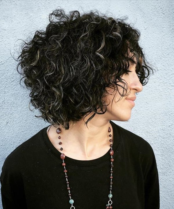42280816-short-curly-hairstylesblackcurlybobwithgrayhighlights