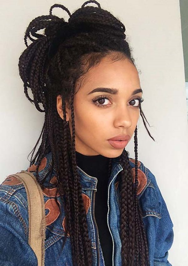 55 of the Most Beautiful Jumbo Box Braids to Inspire Your - Cornrows Hairstyles