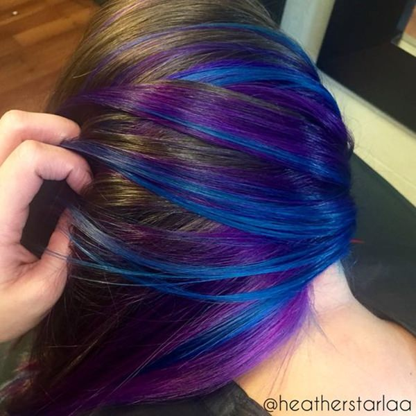 44 incredible blue and purple hair ideas that will blow your mind you dont need to do a full color in order to enjoy these awesome colors just a few bright highlights are all you need to get a fresh new look pmusecretfo Gallery
