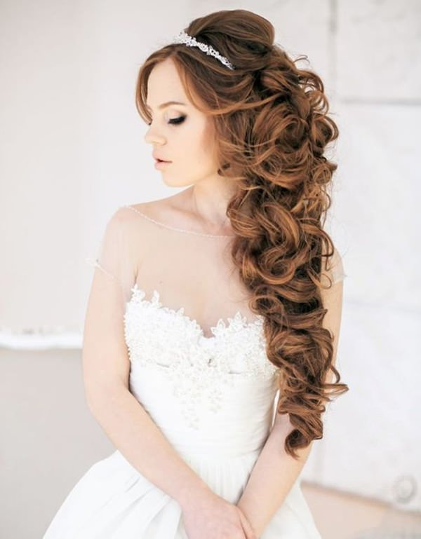 Quince Hairstyles find this pin and more on quinceanera hairstyles by greatresistance This Great Hairstyle Has A High Top That Creates An Elegant Design I Love The Sweeping Curls And Its Made Perfect With The Crown On Top