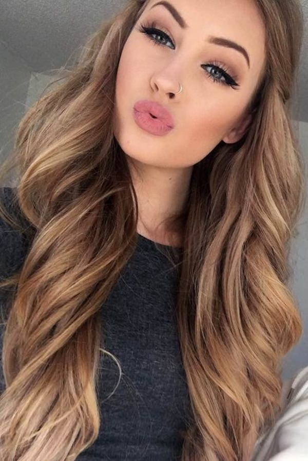 45 gorgeous rose gold hairstyle ideas that will change your world a style that is so natural with just a few highlights of the rose gold if you have long hair then you are sure to love this gorgeous hue pmusecretfo Image collections