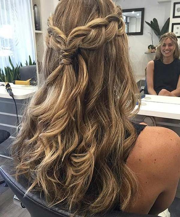 Soft Romantic Curls In A Half Up Style: 68 Elegant Half Up Half Down Hairstyles That You Will Love