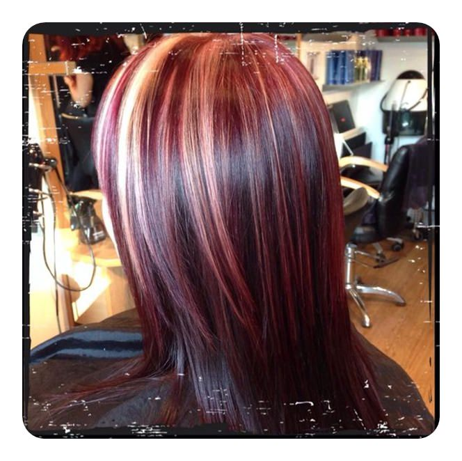 Black With Natural Red Hair