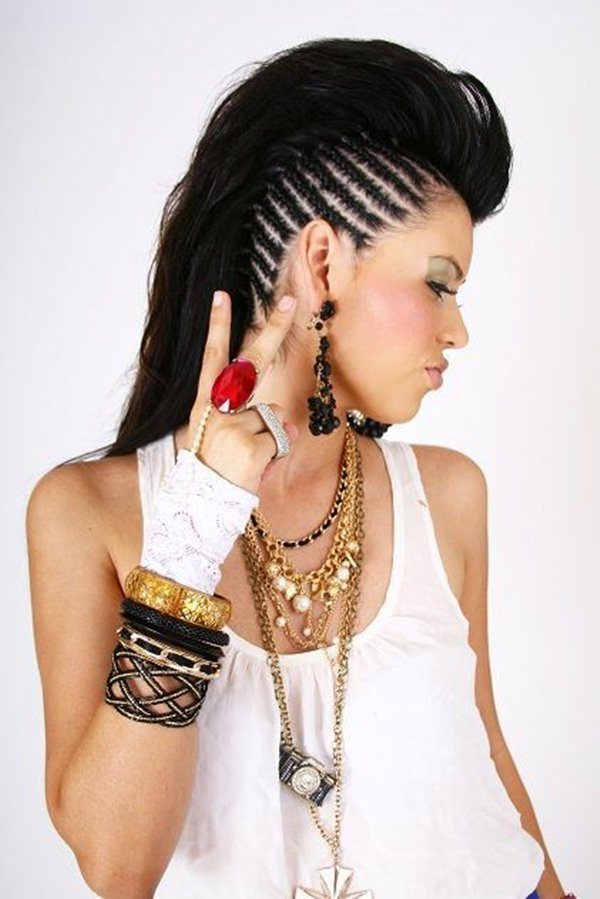 braided mohawk hairstyle 2