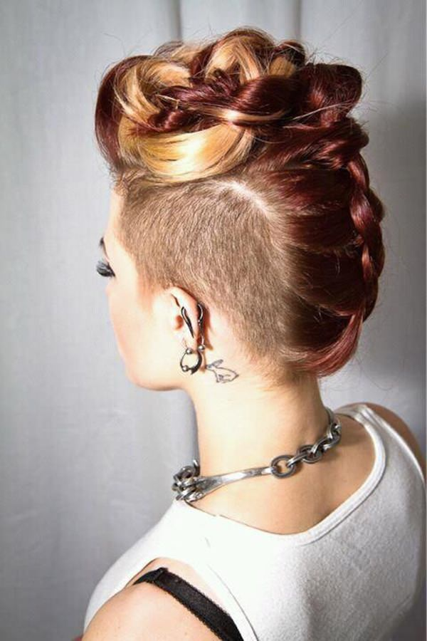 braided mohawk hairstyle 4