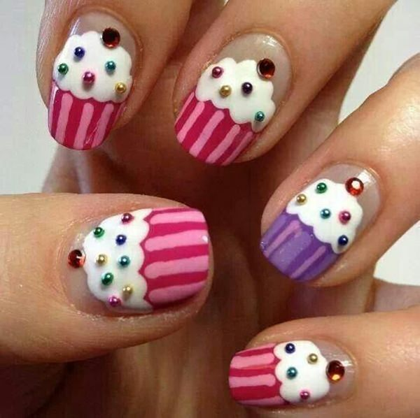 ... cute nail designs 5 - 32 Easy Designs For Short Nails That You Can Try At Home