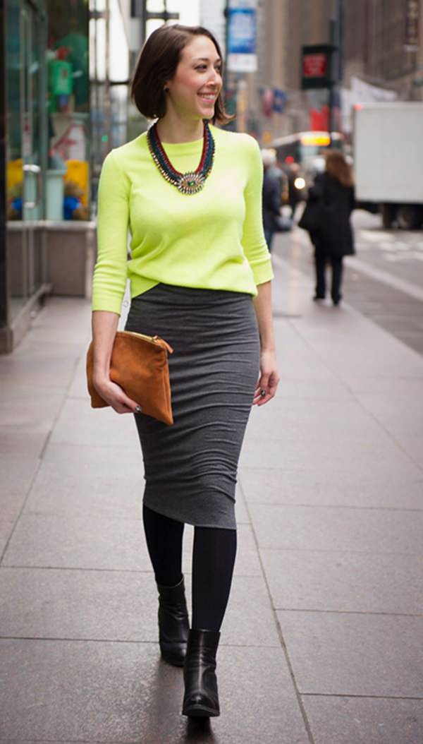 pencil skirt outfits 23