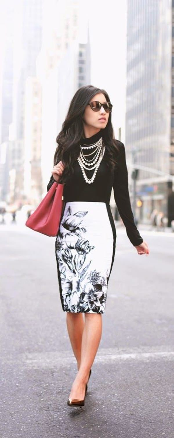 21a318b369 49 Pencil Skirt Outfits that Will Make You Look Like a True #Girlboss