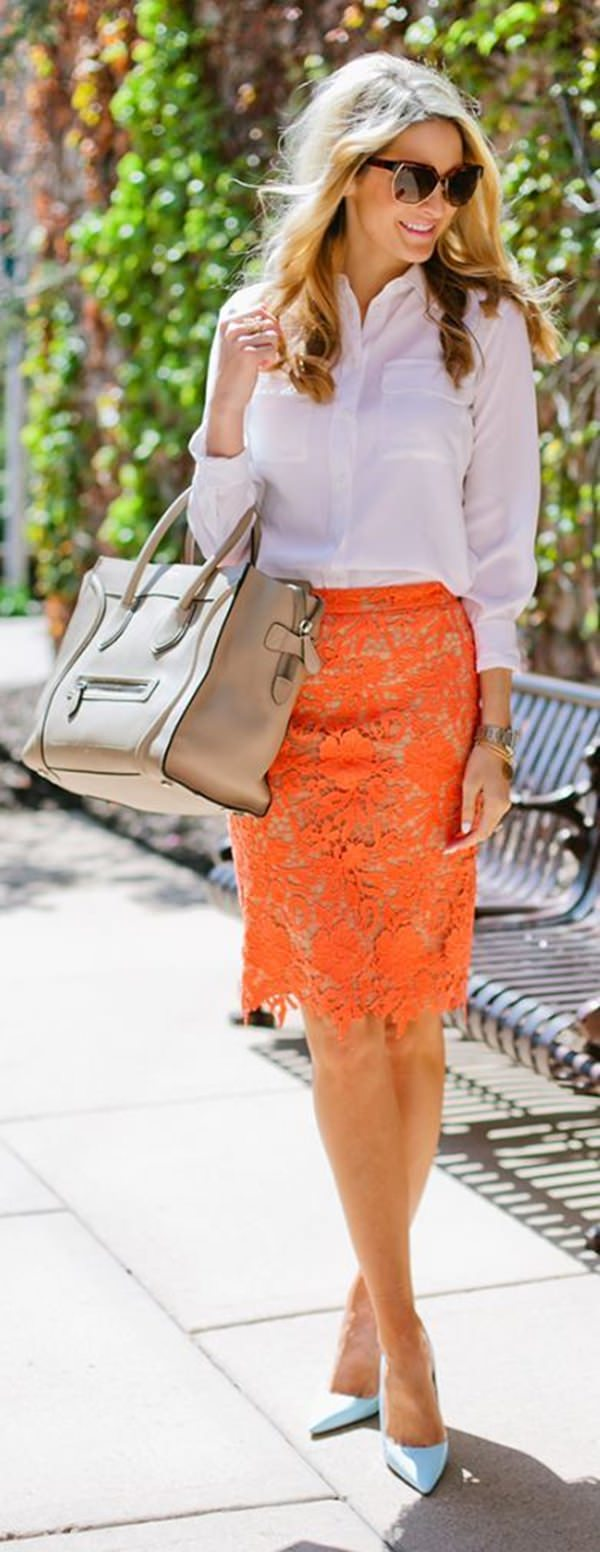 pencil skirt outfits 38