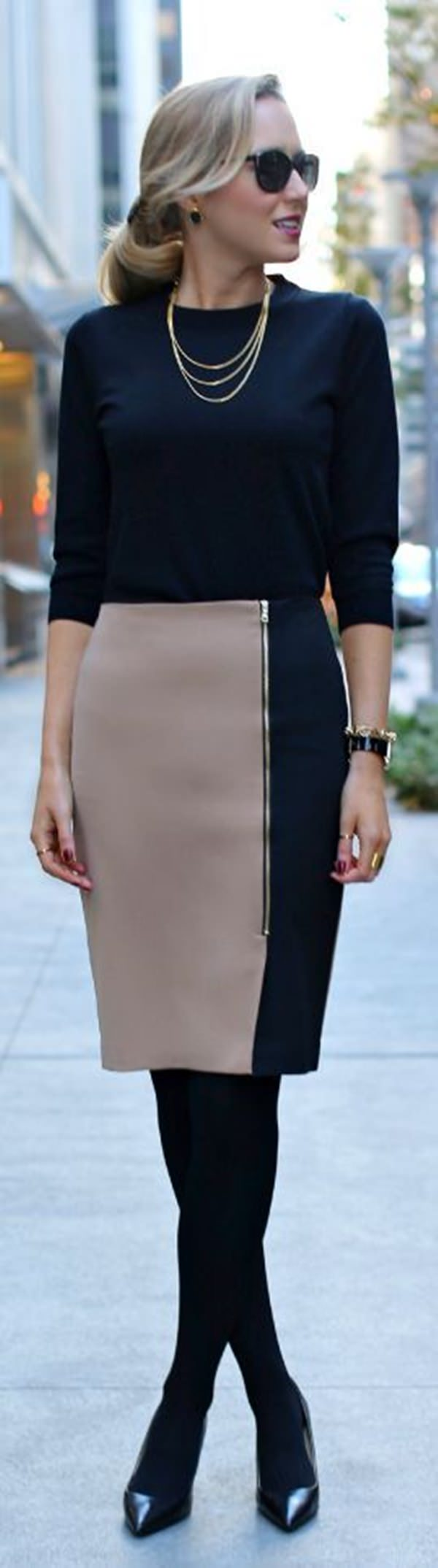 pencil skirt outfits 44