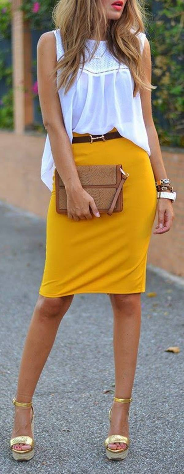 Fall Outfit: Pencil Midi Skirt