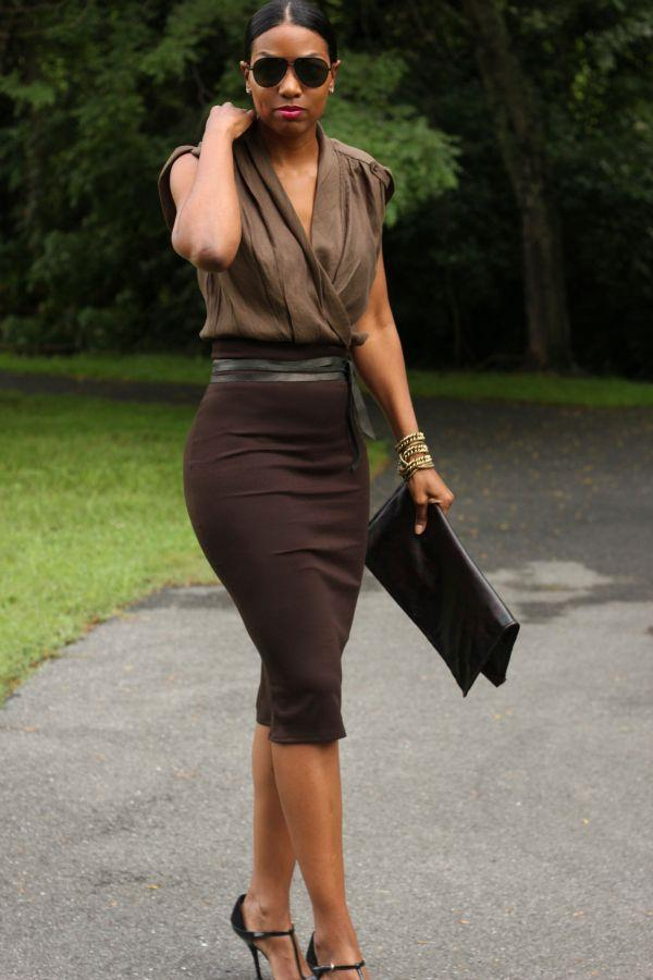 pencil skirt outfits 9