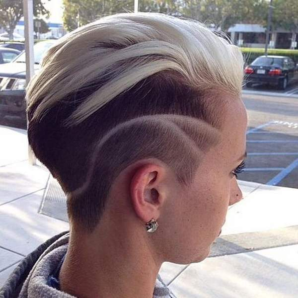 shaved hairstyles for women 34