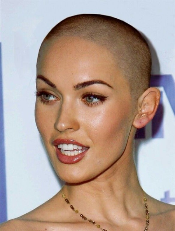 shaved hairstyles for women 45
