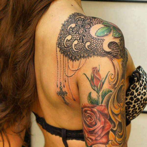 lace tattoos 29