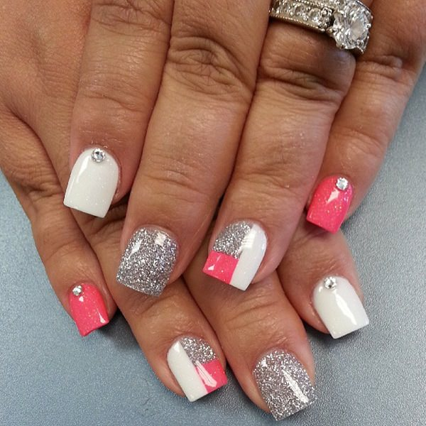 Professional Nail Designs For Work Pink And Black