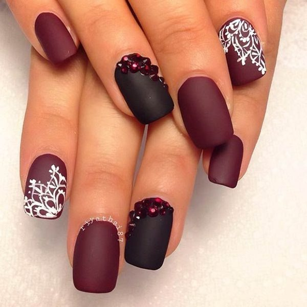 27-Acrylic-Nails - 115 Acrylic Nail Designs To Fascinate Your Admirers