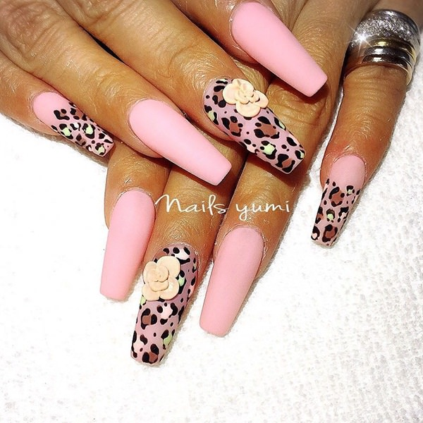 29-Acrylic-Nails - 115 Acrylic Nail Designs To Fascinate Your Admirers
